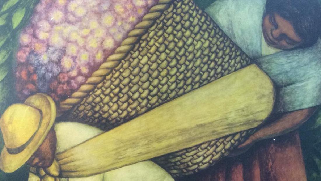 DIEGO RIVERA THE FLOWER CARRIER Framed Print - 9