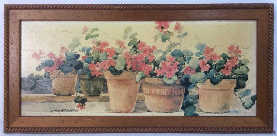 Framed DAWNA DARTON Print On Canvas