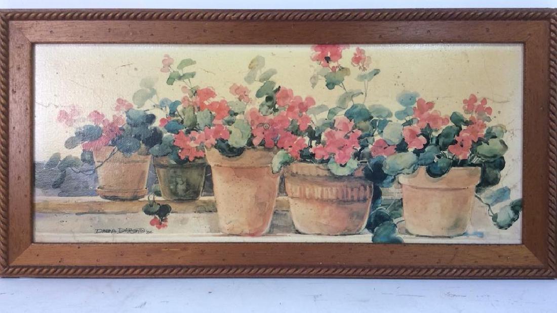 Framed DAWNA DARTON Print On Canvas - 2