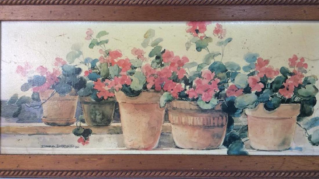 Framed DAWNA DARTON Print On Canvas - 3