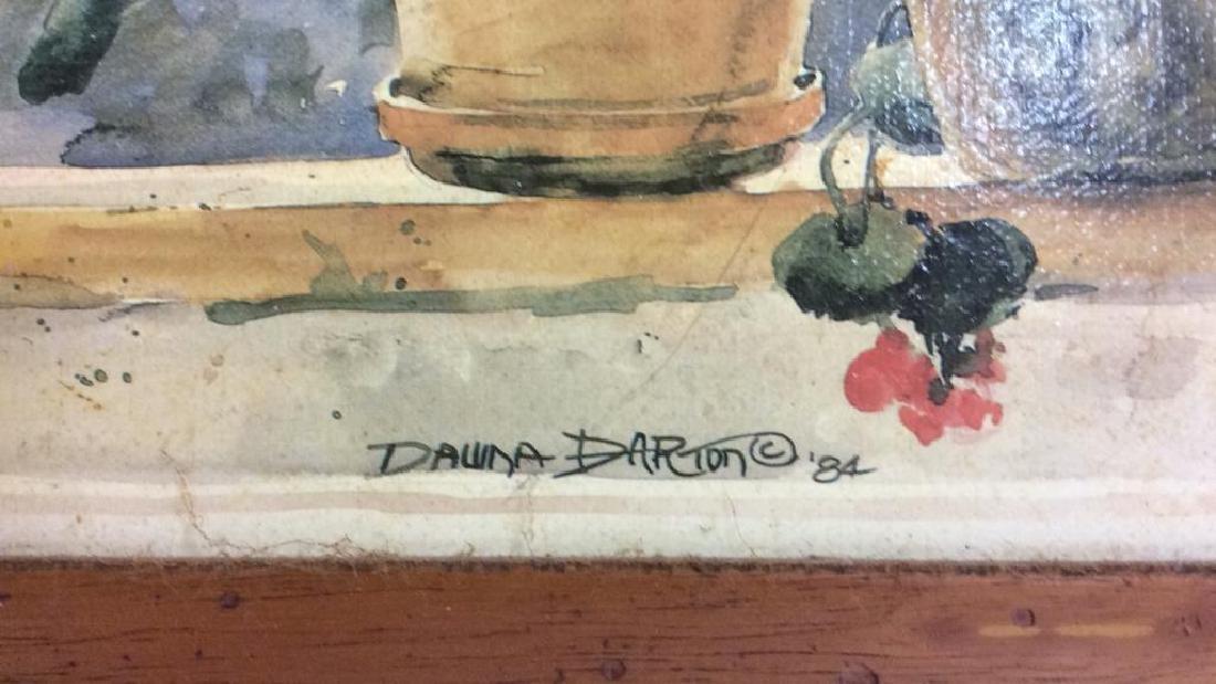 Framed DAWNA DARTON Print On Canvas - 8