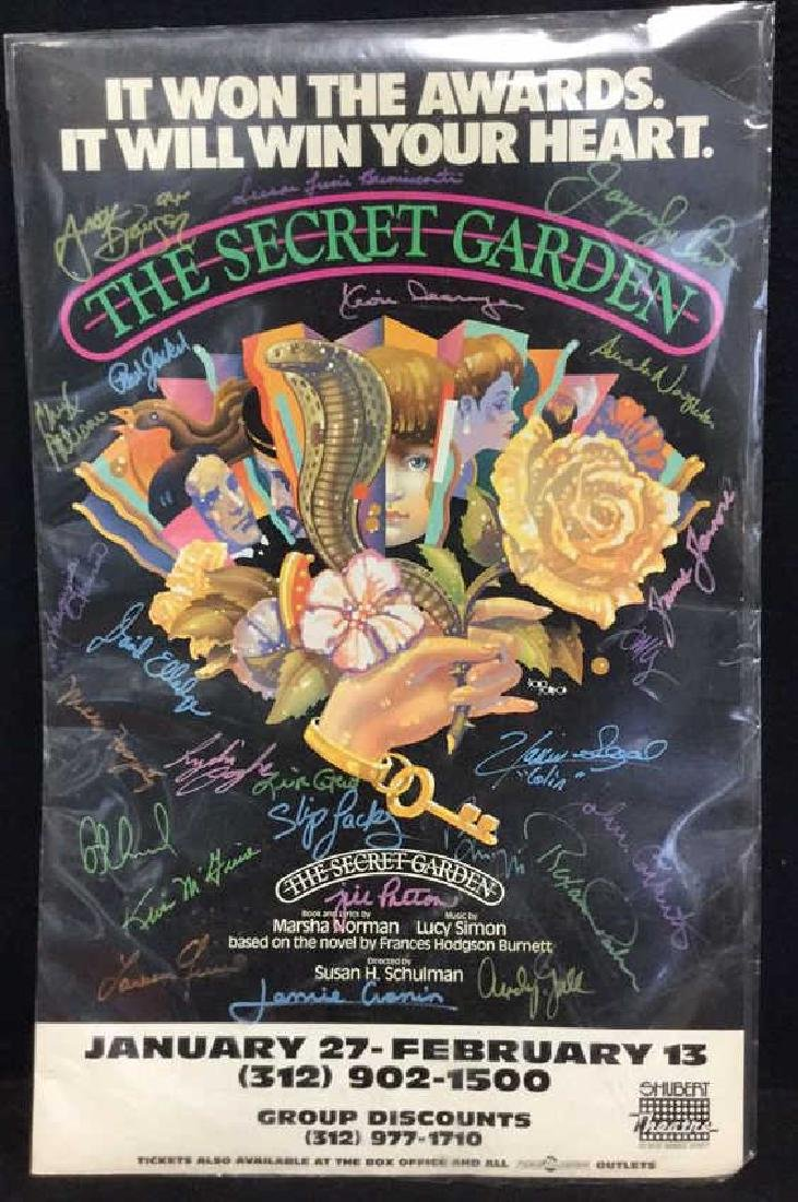 Secret Garden Theater Poster Signed By Cast