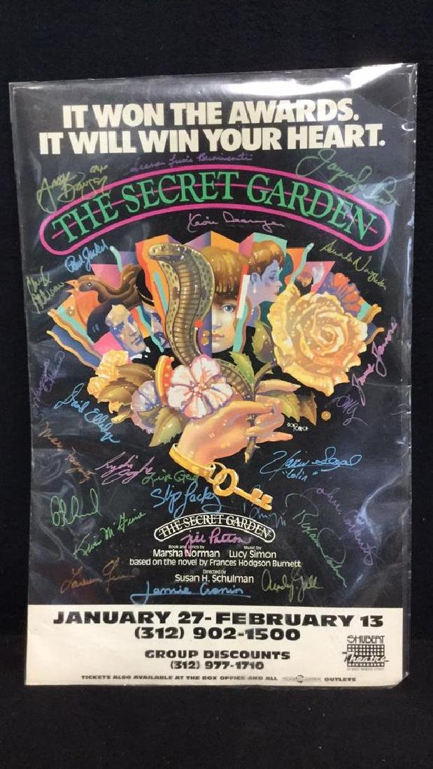 Secret Garden Theater Poster Signed By Cast - 2