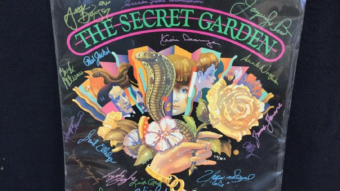 Secret Garden Theater Poster Signed By Cast - 3