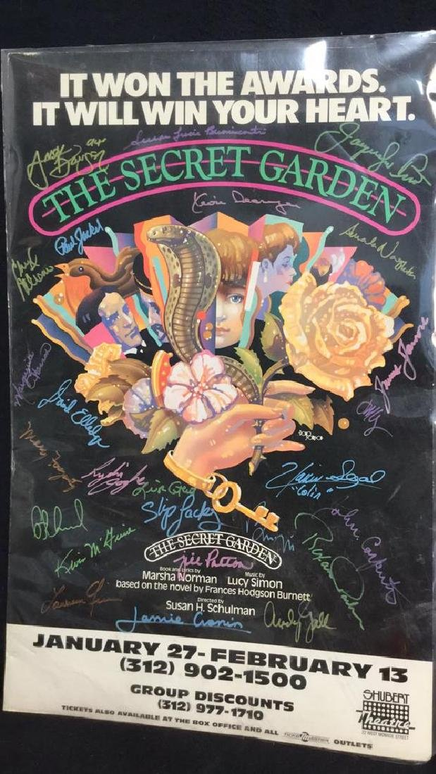 Secret Garden Theater Poster Signed By Cast - 7