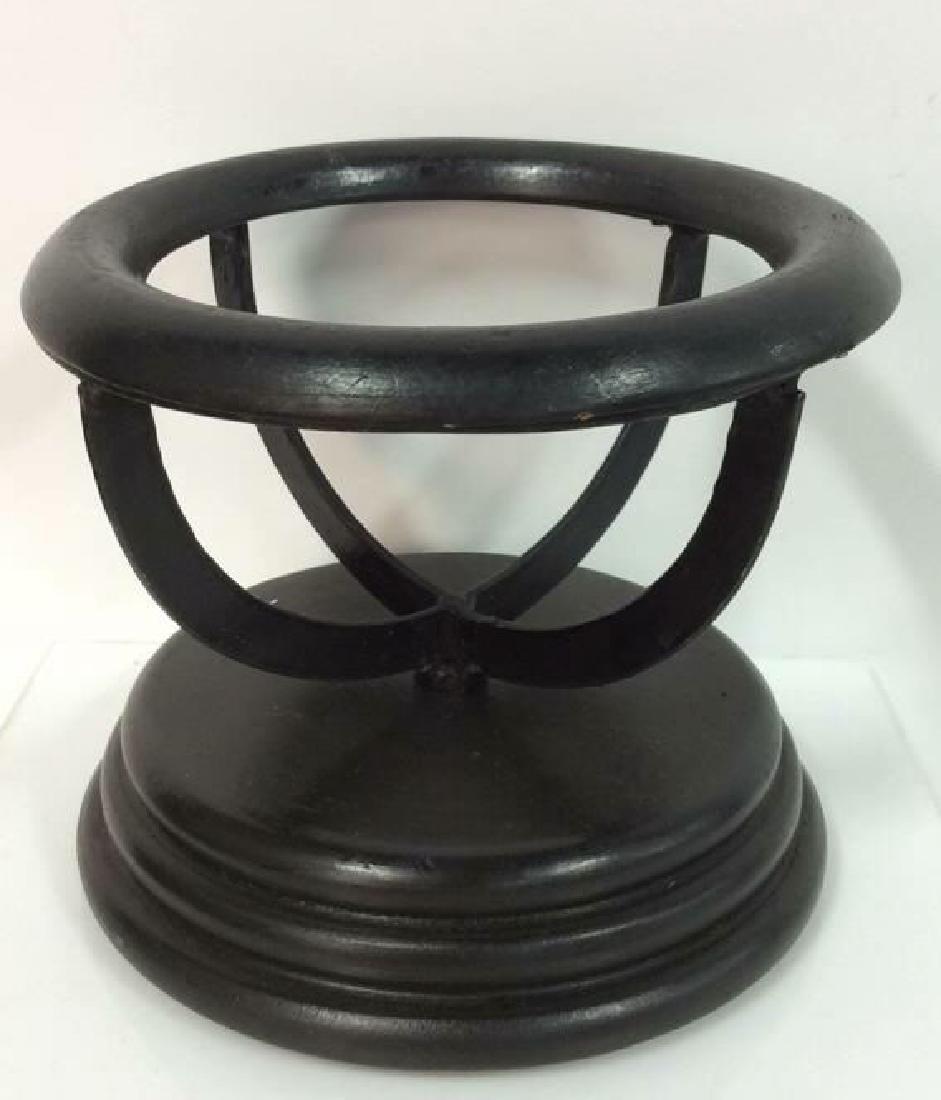 Lot 2 Desk Globes W Wooden Bases - 4