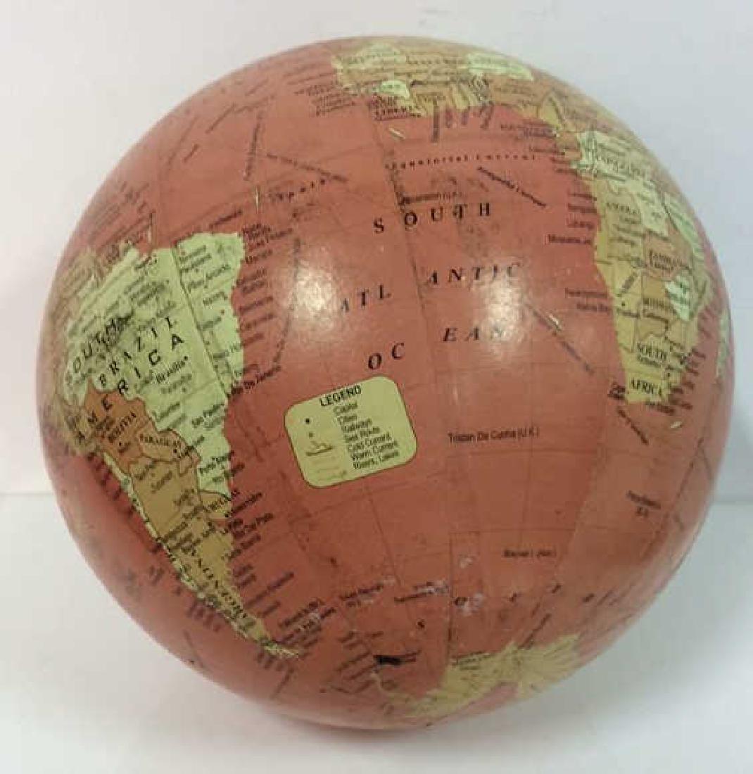 Lot 2 Desk Globes W Wooden Bases - 5