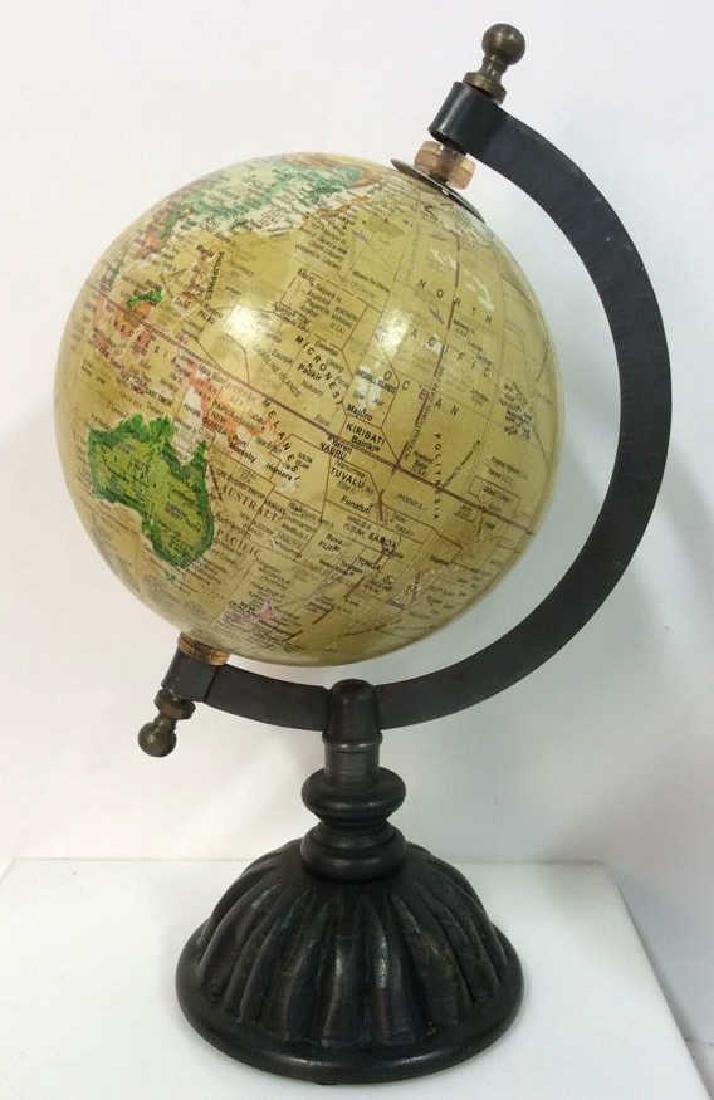 Lot 2 Desk Globes W Wooden Bases - 6