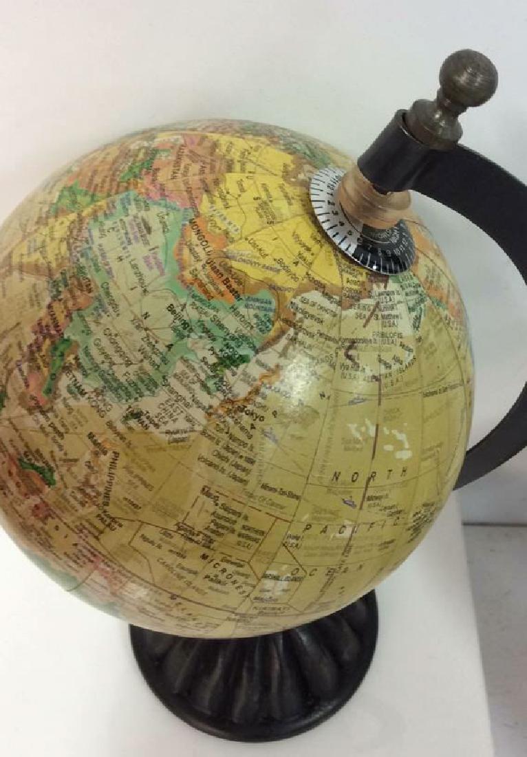 Lot 2 Desk Globes W Wooden Bases - 7