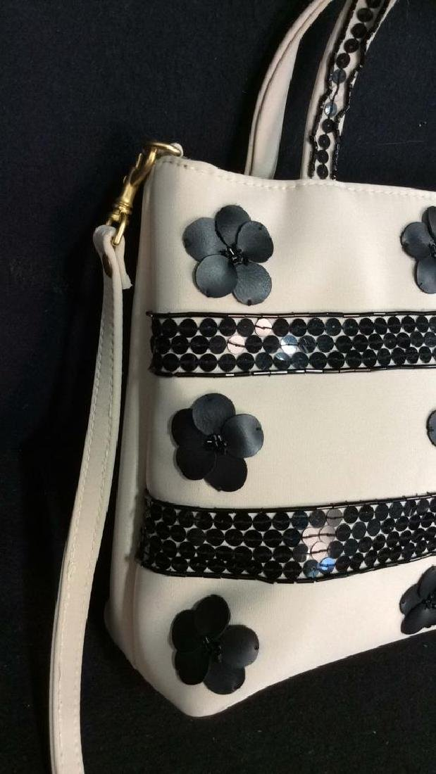 BLAINE TRUMP Black and White Fabric Purse - 3
