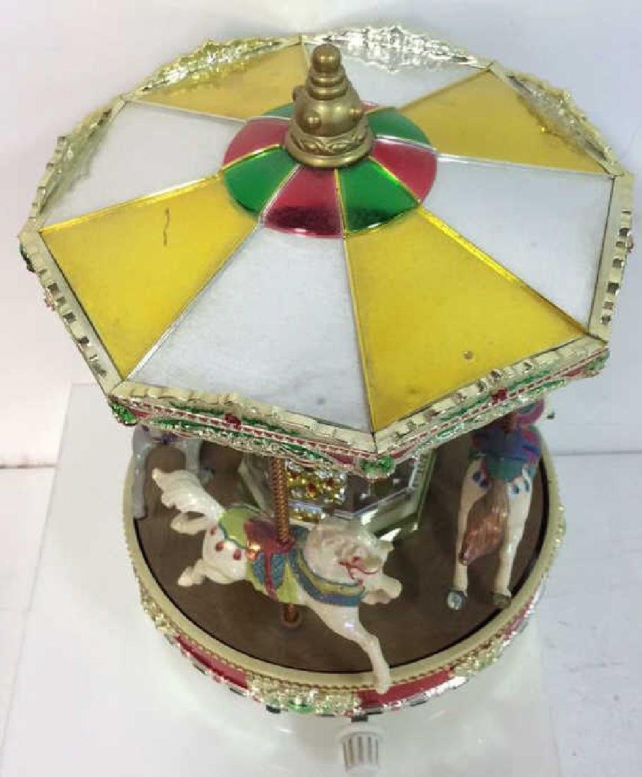 Musical Tabletop Porcelain Carousel - 3