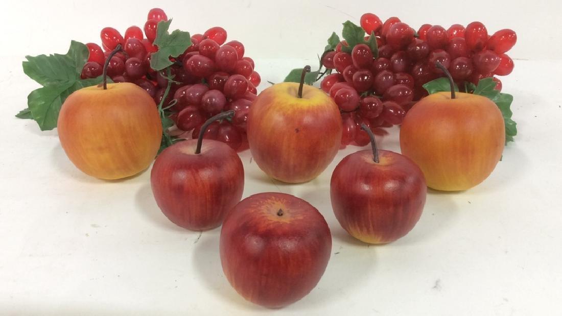 Lot 8 Faux Fruit Apples & Grapes