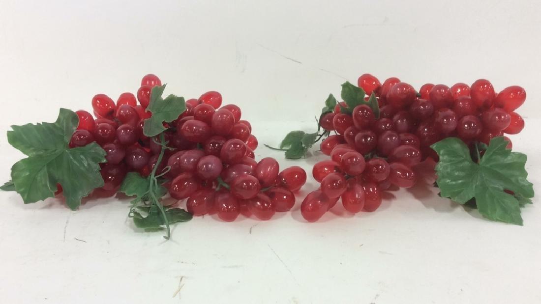 Lot 8 Faux Fruit Apples & Grapes - 2