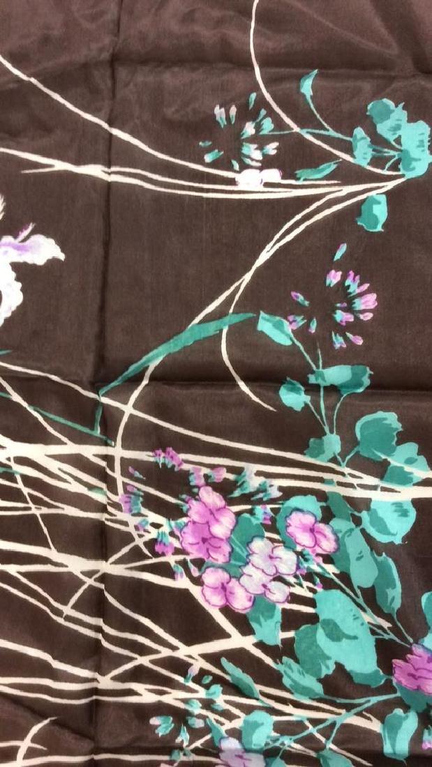 Silk Scarf W Iris Flower Design - 5