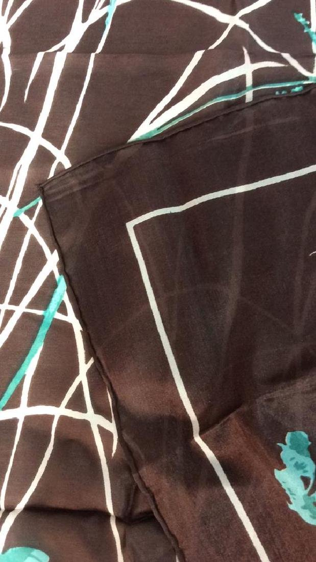 Silk Scarf W Iris Flower Design - 6