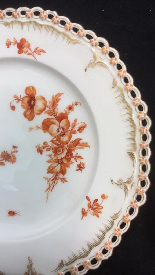 Lot 2 KPM Hand Painted Porcelain Dishes - 2
