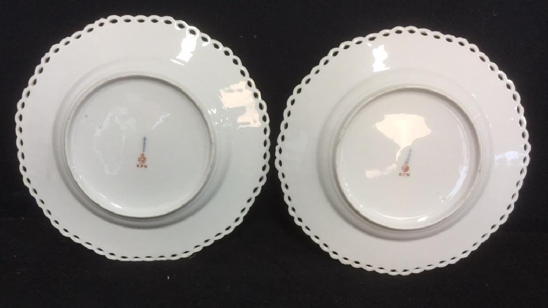 Lot 2 KPM Hand Painted Porcelain Dishes - 5