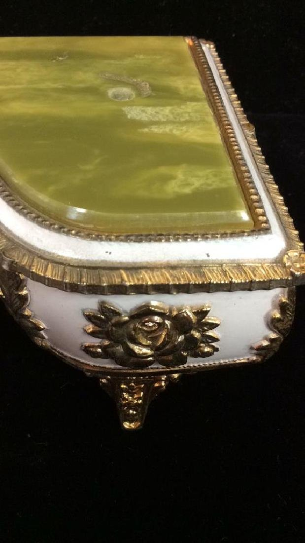 Piano Figural Porcelain GIlded Music Box - 3