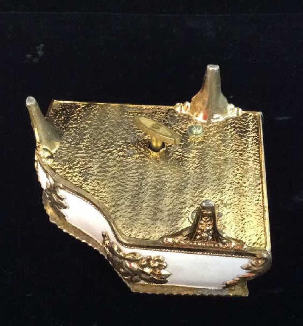Piano Figural Porcelain GIlded Music Box - 7