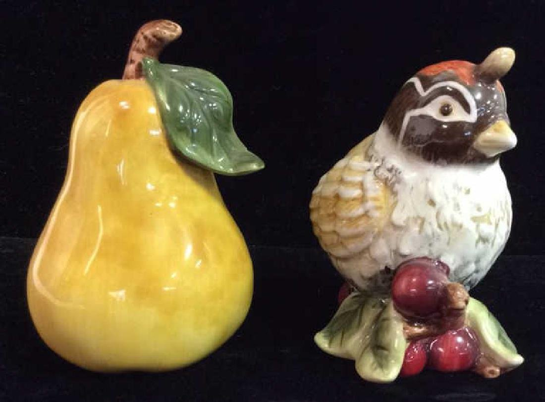 Lot 2 Bird and Pear Salt And Pepper Shaker