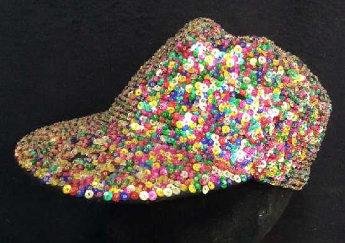 VIntage Sparkley Sequin Baseball Cap