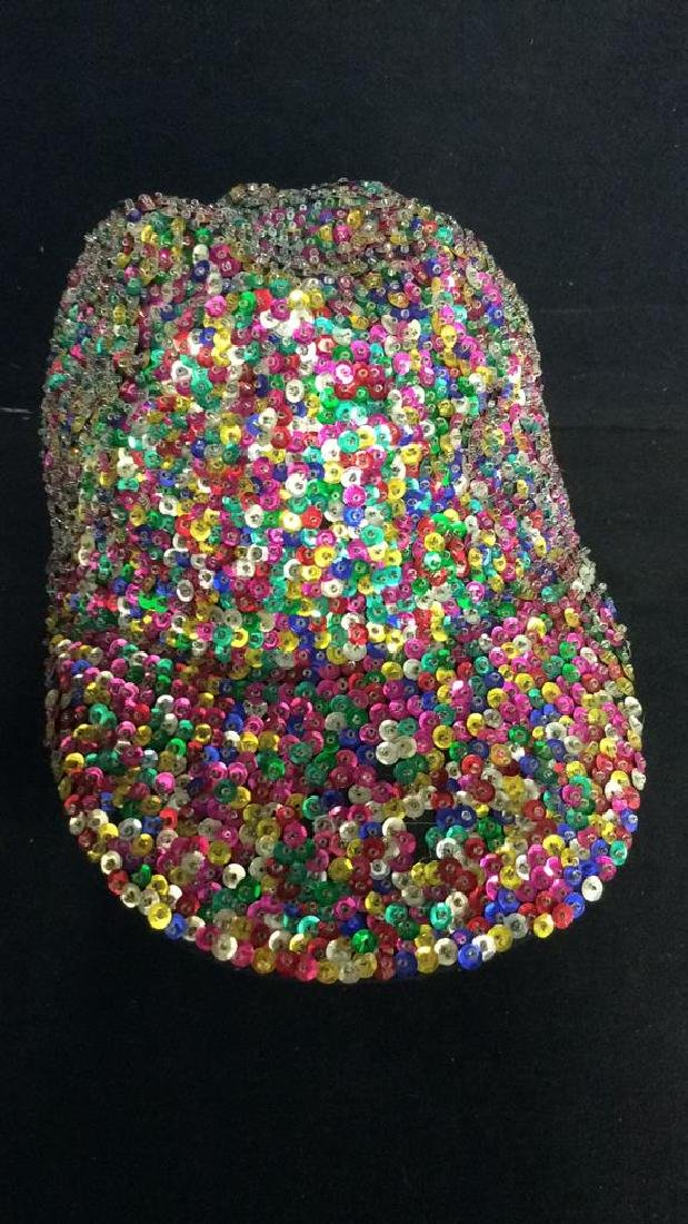 VIntage Sparkley Sequin Baseball Cap - 2
