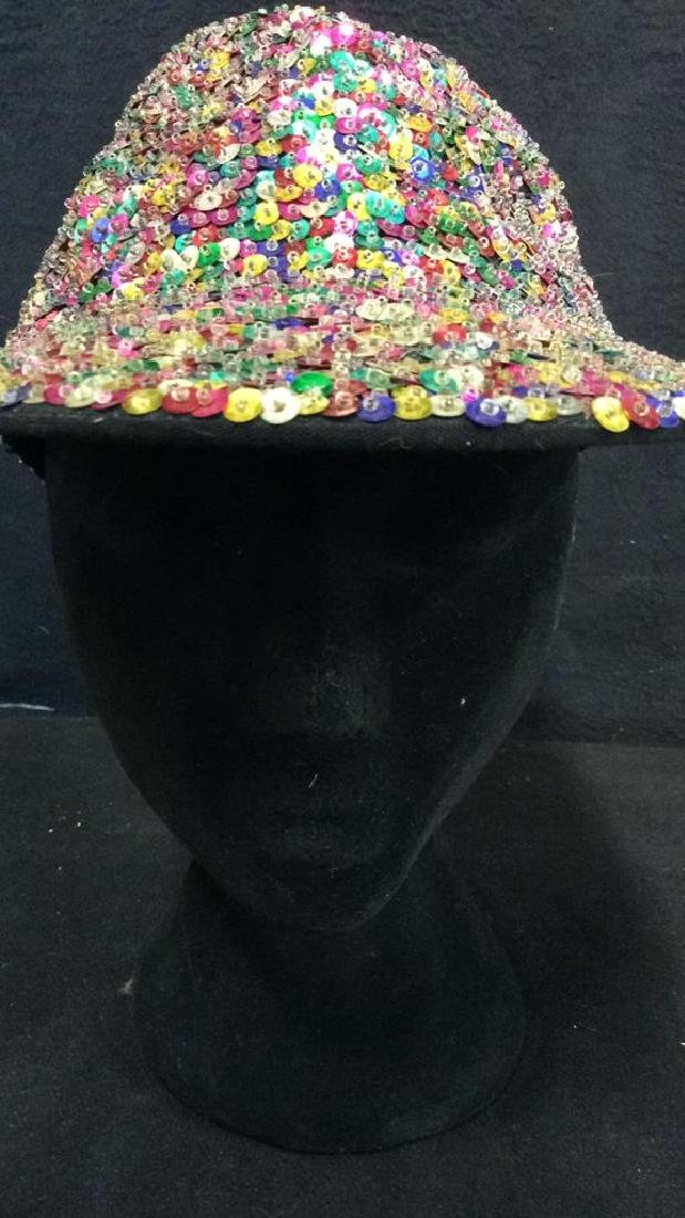 VIntage Sparkley Sequin Baseball Cap - 4