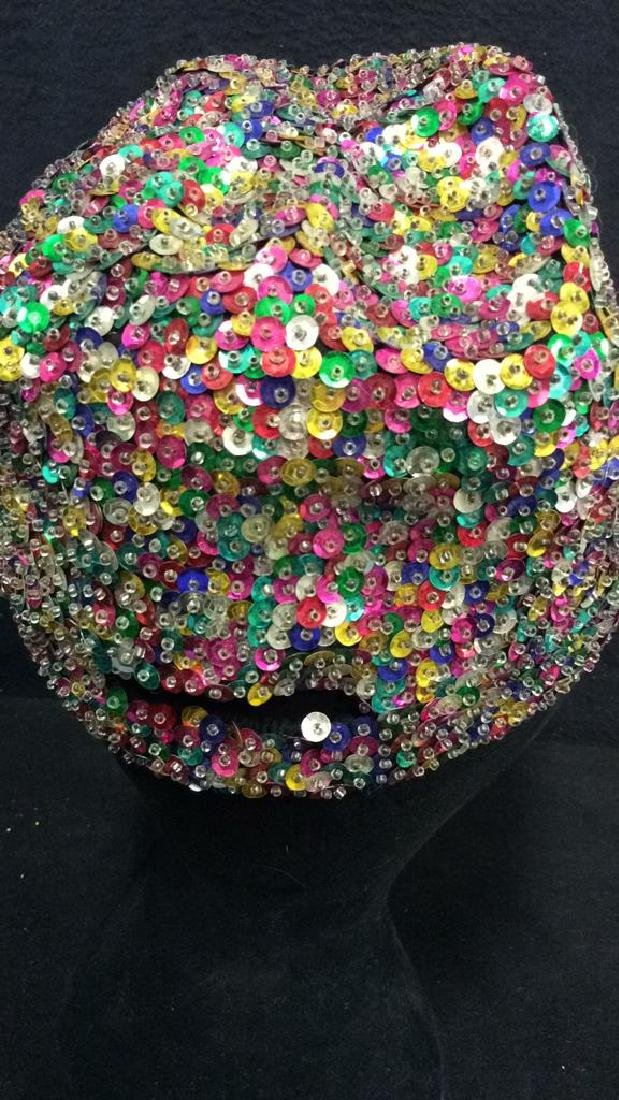 VIntage Sparkley Sequin Baseball Cap - 6
