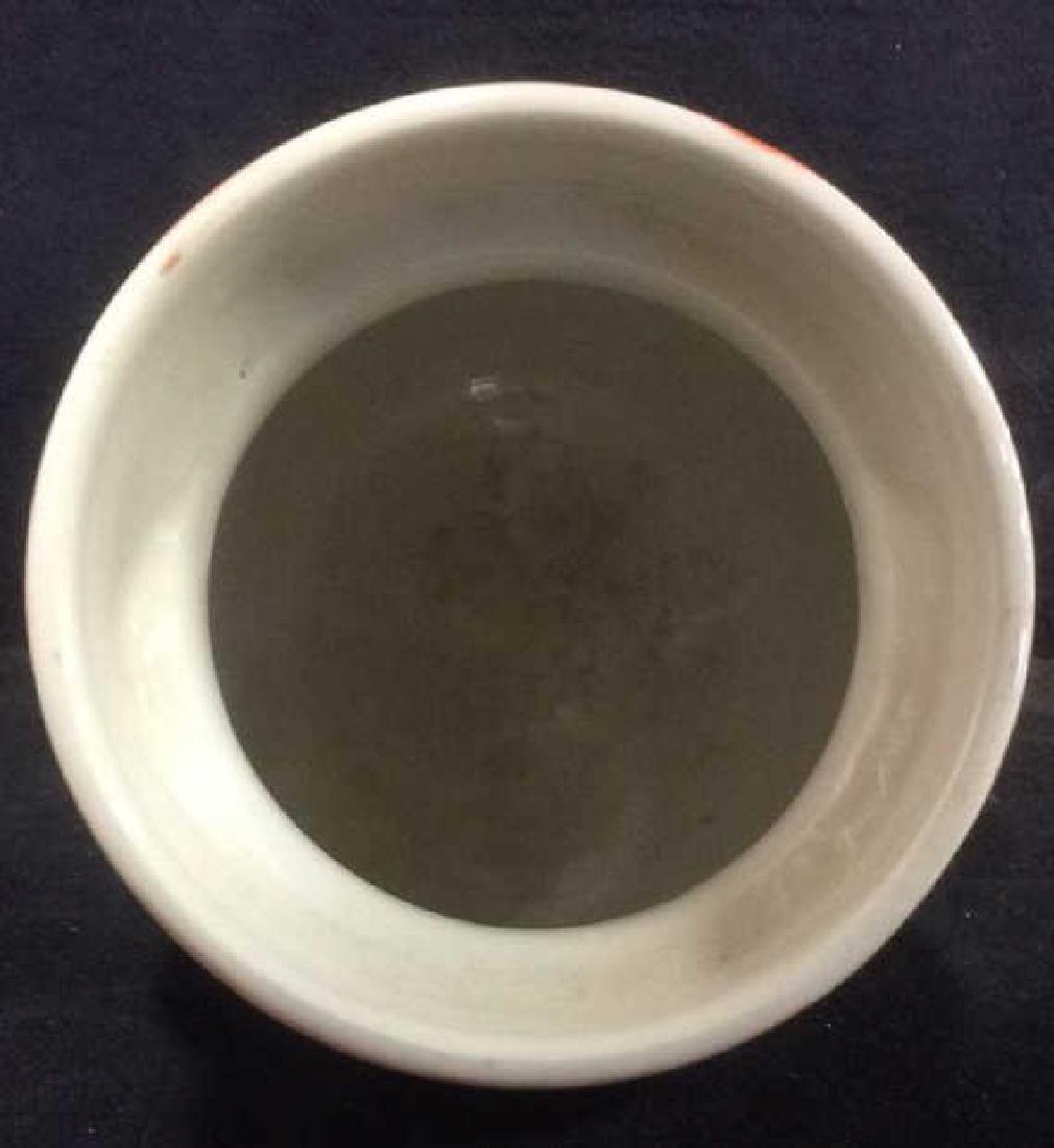 Orange Toned Italian Ceramic Planter - 2