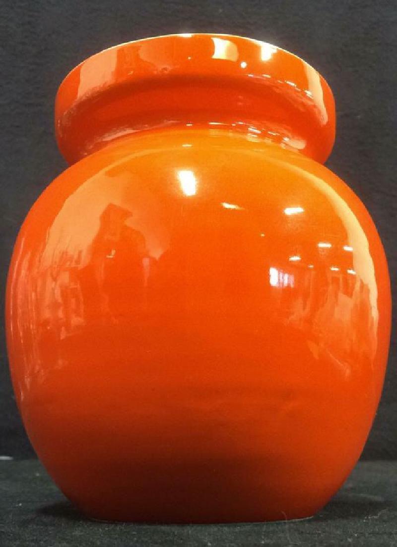Orange Toned Italian Ceramic Planter - 3