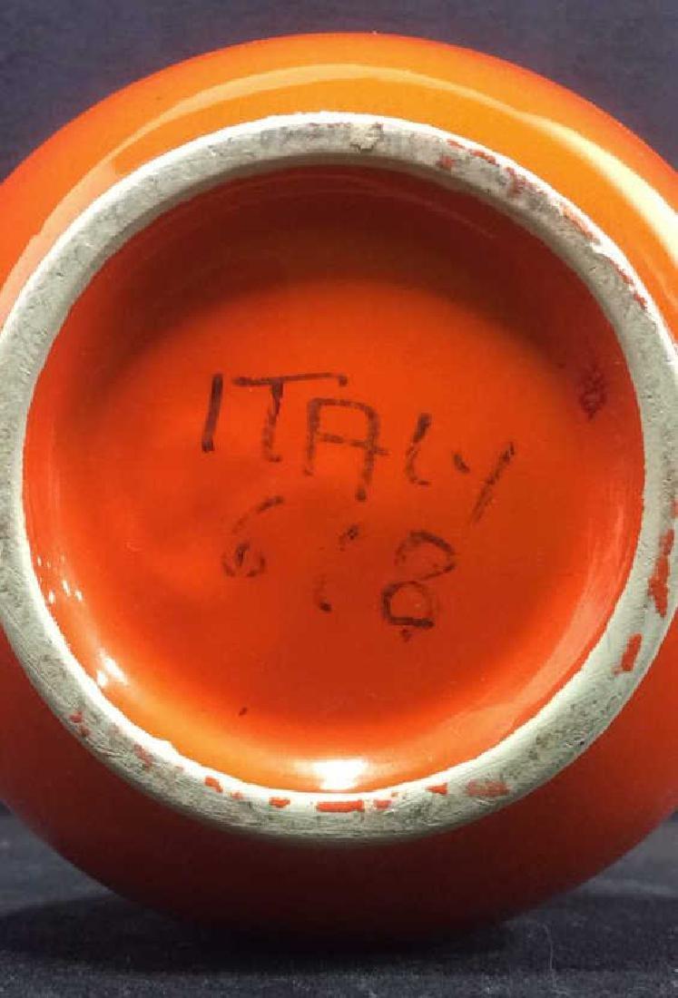 Orange Toned Italian Ceramic Planter - 5