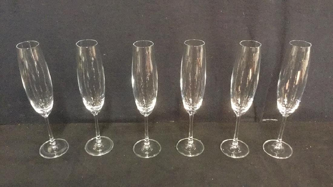 Lot 11 Mixed Crystal Champagne Flutes - 3