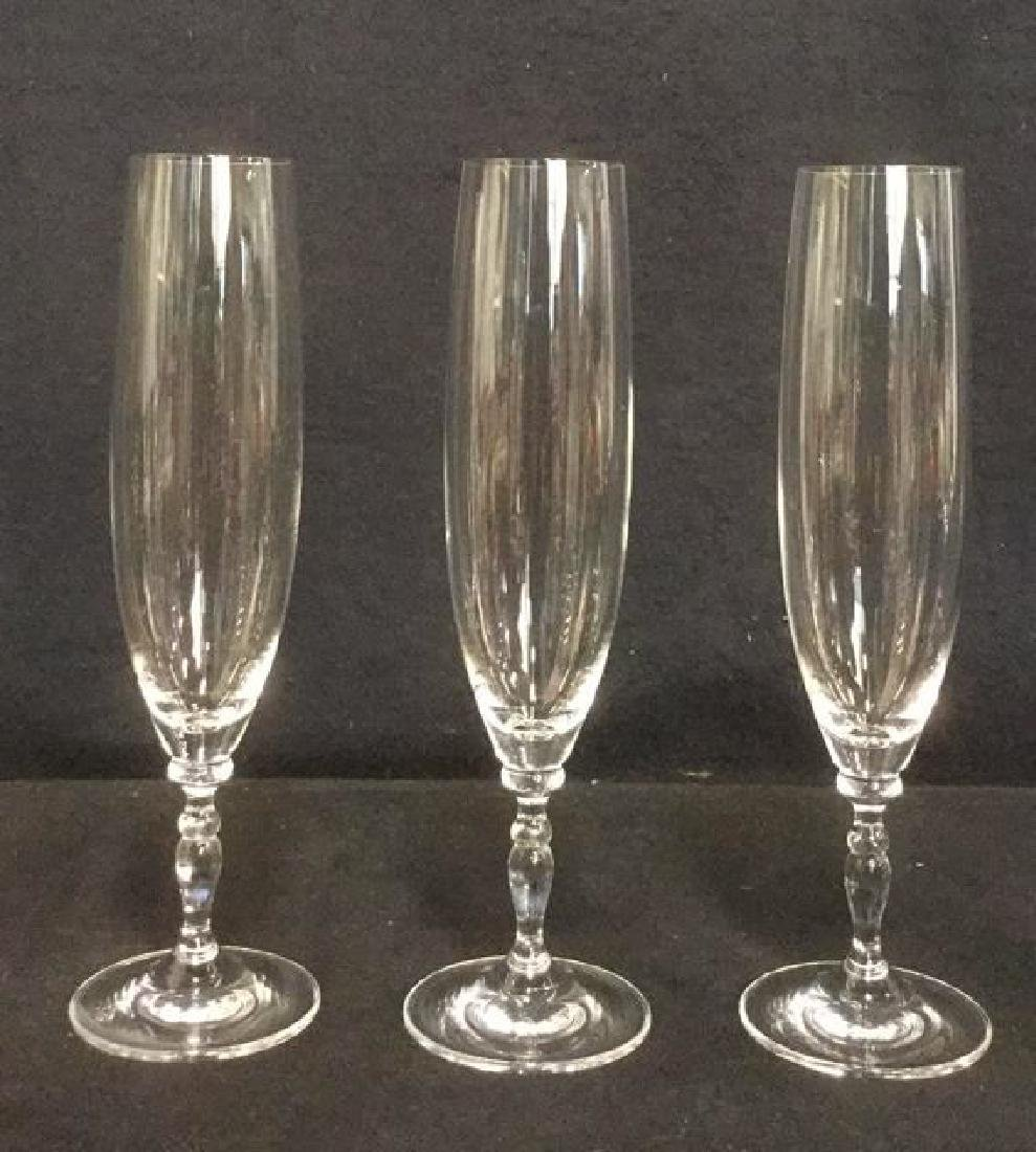 Lot 11 Mixed Crystal Champagne Flutes - 4