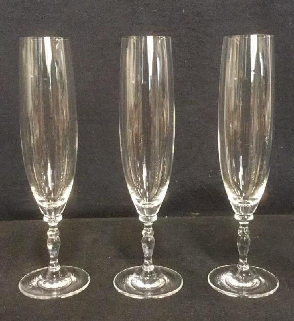 Lot 11 Mixed Crystal Champagne Flutes - 5