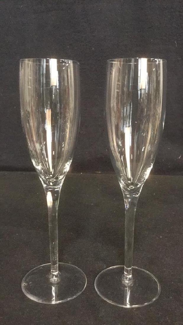 Lot 11 Mixed Crystal Champagne Flutes - 7