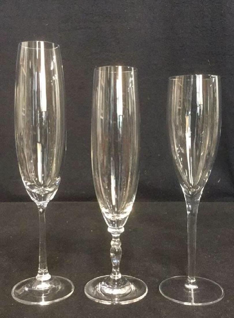 Lot 11 Mixed Crystal Champagne Flutes - 8
