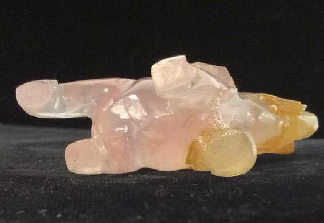 Pair Natural Stone Animal Figurines - 6