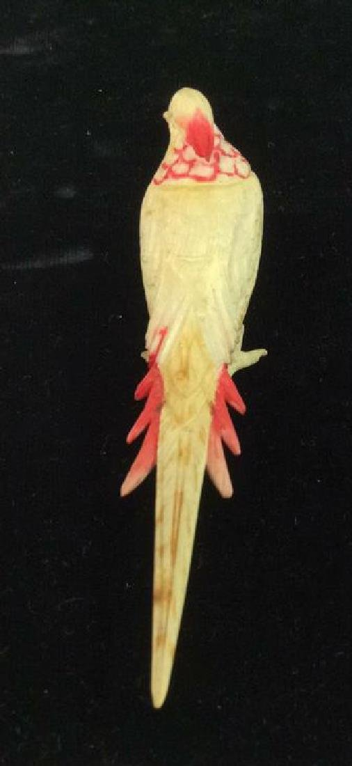 Pair Carved Bone Birds - 5