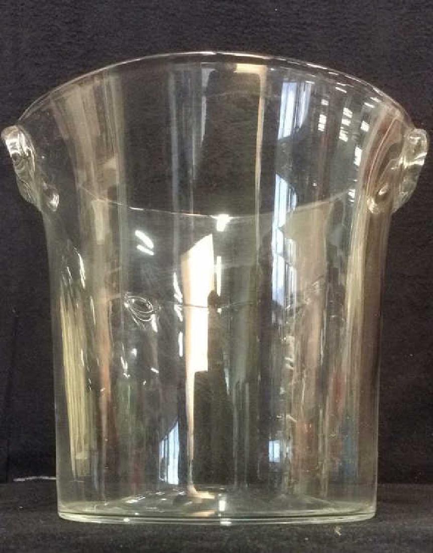 Handled Glass Ice Bucket - 2