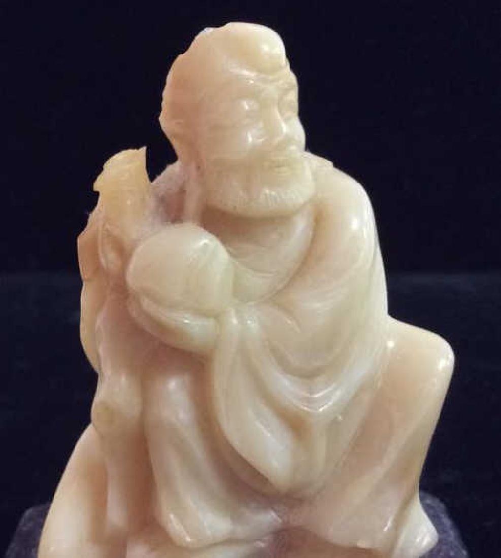 Natural Stone Confucius Figurine - 6