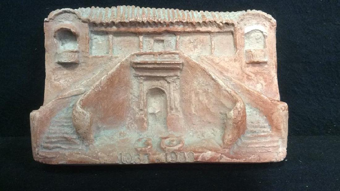 Pink Toned Plaster Architectural Carving