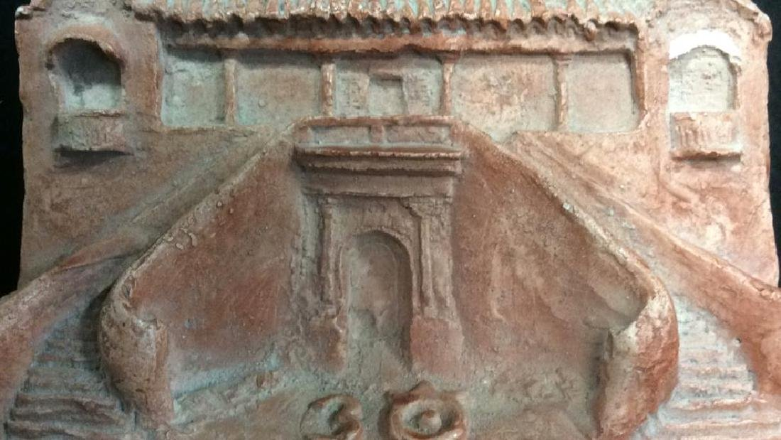 Pink Toned Plaster Architectural Carving - 2