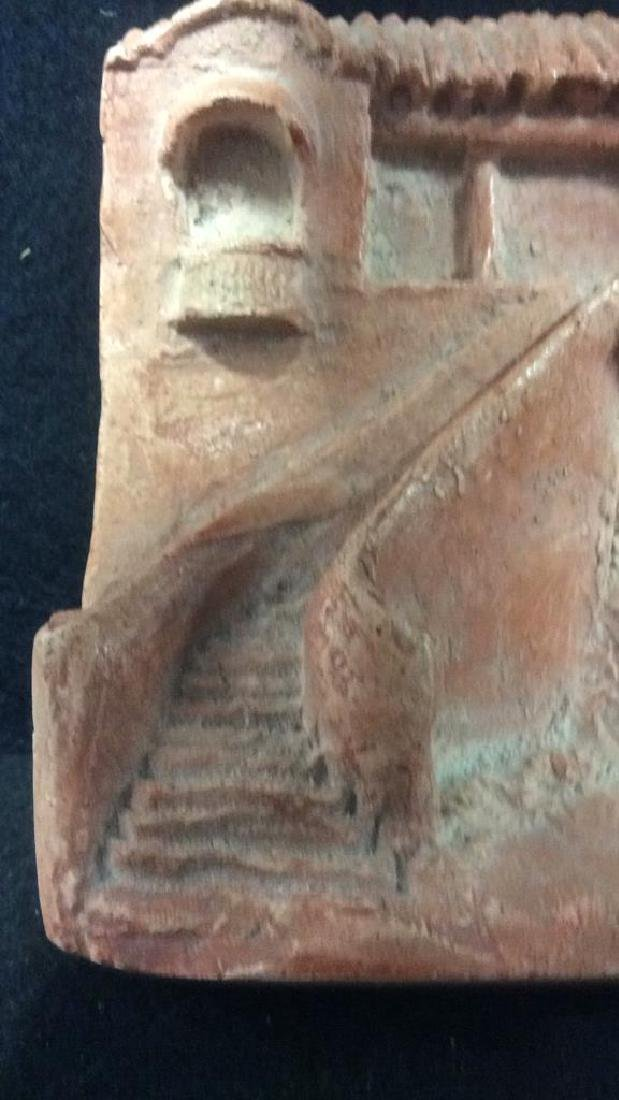 Pink Toned Plaster Architectural Carving - 4