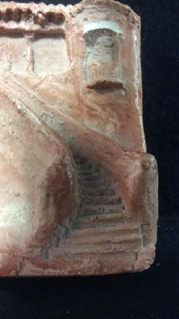 Pink Toned Plaster Architectural Carving - 5