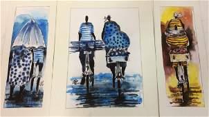 Lot 3 Signed Owen Maseko Watercolor Painting