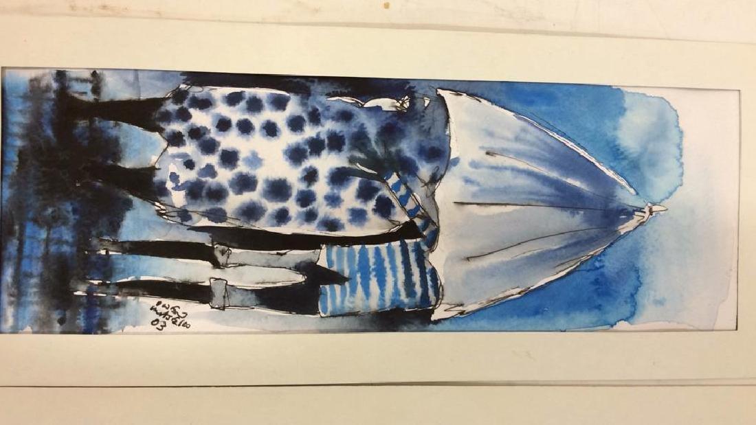 Lot 3 Signed Owen Maseko Watercolor Painting - 2