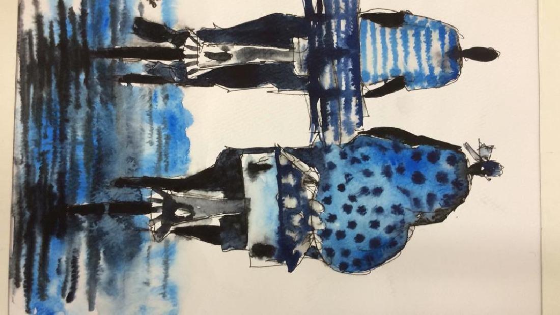 Lot 3 Signed Owen Maseko Watercolor Painting - 3