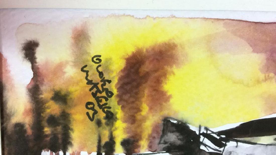 Lot 3 Signed Owen Maseko Watercolor Painting - 5