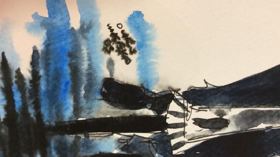 Lot 3 Signed Owen Maseko Watercolor Painting - 6