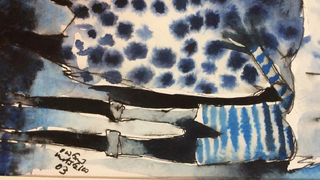 Lot 3 Signed Owen Maseko Watercolor Painting - 7